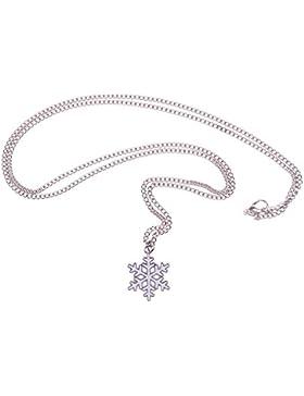Schneeflocken-Kette - 70cm lange Halskette - Schneeflocke Schnee Weihnachten Winter Eiskristall Eis