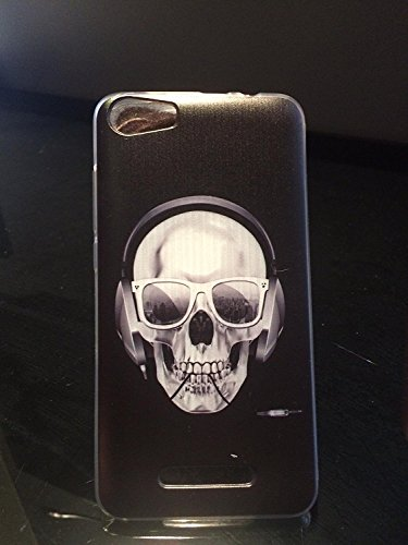 Gel Coque Etui Silicone Wiko Lenny 2 SKULL by D&C®