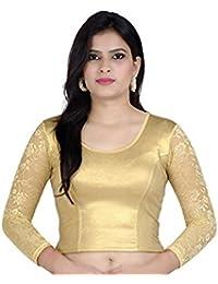 Fressia Fabrics Women's Cotton Saree Blouse (Ch_100Master)