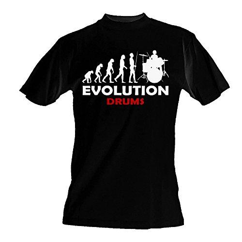 Evoluzione batteria DA UOMO T-Shirt maglietta