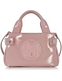 Armani Jeans Mujer 922528CC85500677 Rosa Pvc Bolso De Mano