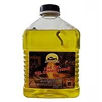 Burning Gel for Gel Fireplaces & Gel Table Fire 2000 ml - 2 liters