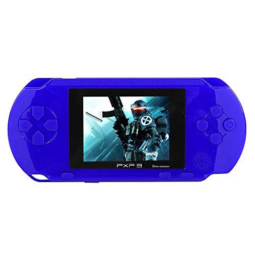 JouerNow Negro/Rojo/Azul/Verde PXP3 delgado Handheld de 16 bits consola de juegos de vídeo juego de Retro Juegos 150+ (Azul)
