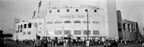 The Poster Corp Panoramic Images - People outside a baseball park old Comiskey Park Chicago Cook County Illinois USA Photo Print (91,44 x 30,48 cm) - Comiskey Park