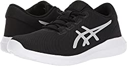 ASICS Womens Metrolyte Ii Shoe Walking Black/Silver/White 10.5 B(M) US