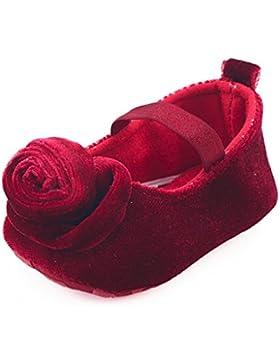 JERFER 7 Farben Neugeborene Baby Mädchen Blumen Schuhe Krippe Krabbel Schuhe Weiche Sohle Anti-Rutsch Turnschuhe...