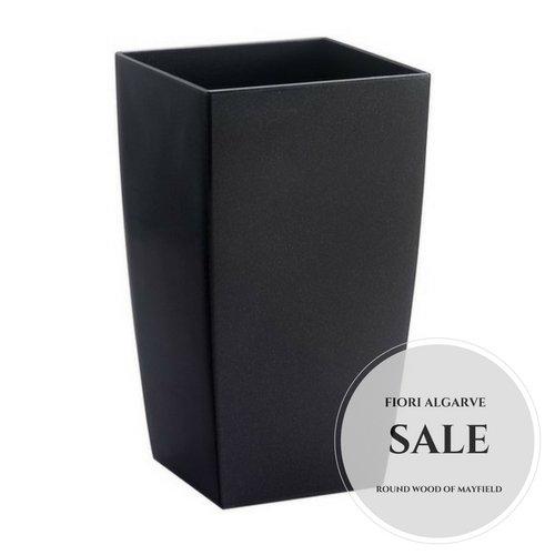 p8026.35l Center Stück Fiori Algarve Übertopf Vase Blumentopf, schwarz, 35cm (Trading Center)