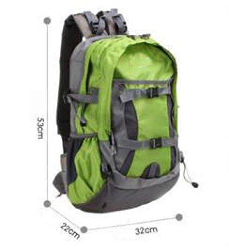 Nylon Trekking Schulter Tasche Faltbar Bergsteigen Tasche 40L Green