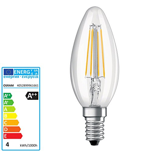 Preisvergleich Produktbild OSRAM PARATHOM LED RETROFIT CLASSIC B E14 220 240 V RETROFIT CL B40 clear filament 827 4W 470lm 2700