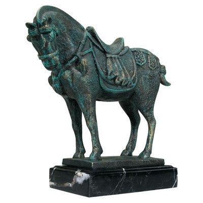 Design Toscano SP1322 Antikes Tang Pferd Eisenstatue von Design Toscano bei Du und dein Garten