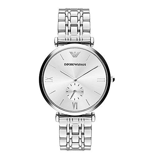 Emporio Armani Herren Analog Quarz Uhr mit Edelstahl Armband AR1819