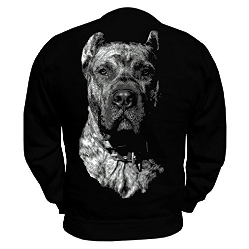 Männer und Herren Pullover Dogo Canario BOSS (mit Rückendruck) Schwarz