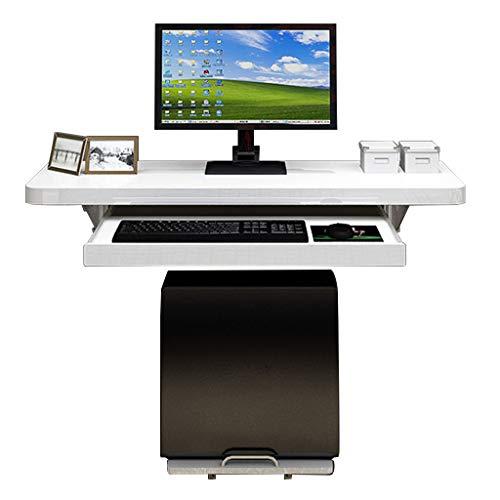 Hängender Drop-Leaf-Tisch Computer-Schreibtisch Platzsparend Mehrzweck-Büro-Computer-Arbeitsplatz-Tisch, Weiß (Mehrfachgröße) -
