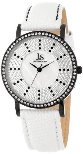 Joshua & Sons Women's JS-42-BK Swiss Quartz Stainless Steel Crystal Strap Watch