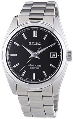 Seiko Spirit - Reloj de automático para hombre, con correa de acero inoxidable, color plateado