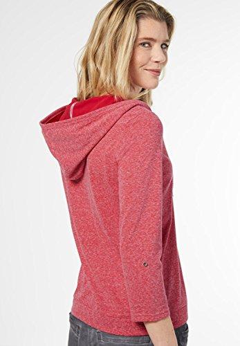 CECIL Damen Melange Kapuzenshirt Jill just red (rot)