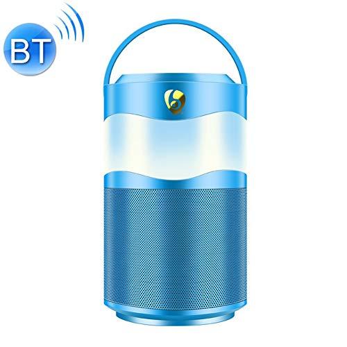 R-SOUNDBAR Tragbarer Intelligenter Bluetooth V5.0-Musiklautsprecher Mit Griff Und Buntem LED-Nachtlicht, Freisprechfunktion, TF-Karte, FM- Und AUX-Eingang,Blue -