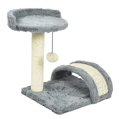 Semme Cat Scratch Tree, Kätzchen-Kletterpfosten Cat Scratching Jumping Kletterpfosten-Leiter...