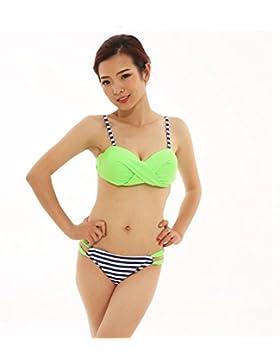Dividir la seguridad Bañadores Bañador femenino de adelgazamiento _ moderno y cómodo bikini triángulo dividido...