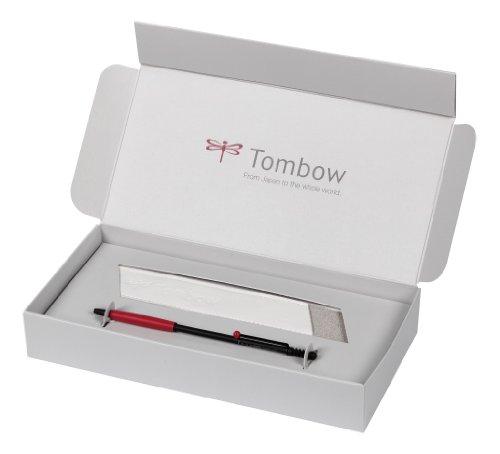 Tombow BC-1000ZS2-BOX - Penna Zoom 707, con custodia, in confezione regalo, colore: Nero/rosso