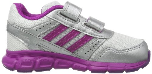 adidas Hyperfast CF I-3, Chaussures de course mixte enfant Blanc - Running White FTW/Vivid Pink/Metallic Silver