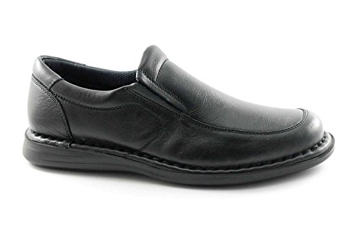 FRAU 38M5 Les chaussures noires homme mocassins confort sans lacets Noir