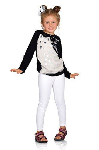 FUTURO FASHION dick warm Kinder Baumwollleggings Mädchen Hose einfarbig volle Länge Kinder Hosen alter 2 3 4 5 6 7 8 9 10 11 12 13 - Weiß, 152 (Legging Warme)