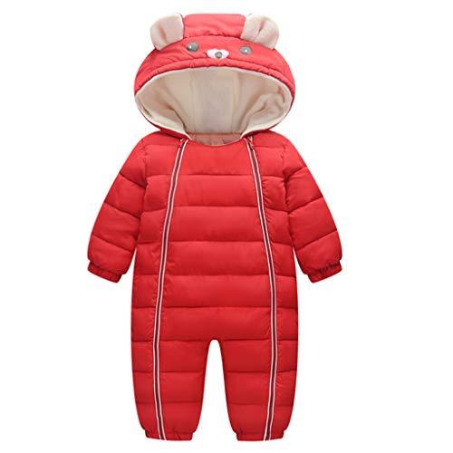 Minizone Bambino Tute da Neve Pagliaccetto con Cappuccio Inverno Tutine Outfits 9-12 Mesi