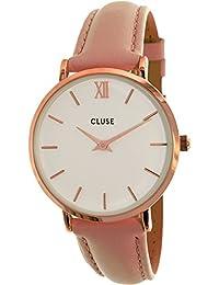 Cluse Reloj Analógico de Cuarzo para Mujer con Correa de Cuero – CL30001