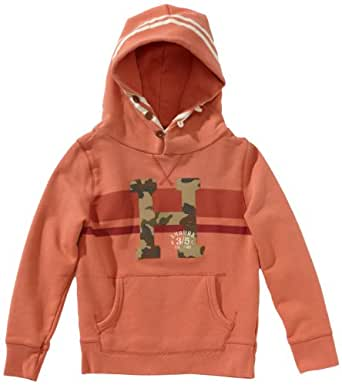 Scotch Shrunk Jungen Sweatshirt 13440640507 hooded logo sweat  Gr. 128  (8), Rot (22 - cayenne )