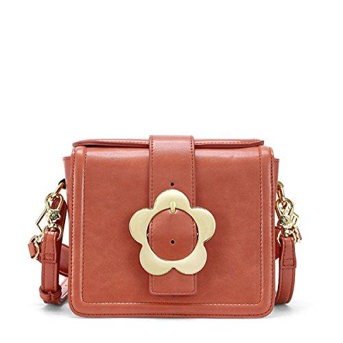 FZHLY Primavera E L'estate Nuova Messenger Bag Signore Versione Coreana Piccola Piazza Borsa,SunsetRed SunsetRed