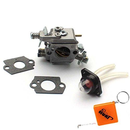 HURI Carburateur + Joint + Pompe D'amorcage pour Poulan Sears Craftsman  Tronçonneuse Walbro WT-89 WT-891 WT-324 WT-624 W20 Carb