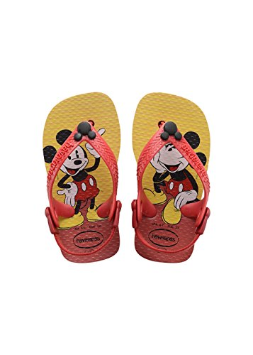 Havaianas Kinder Flip Flops Baby Disney Classics Grösse 22 EU (20 Brazilian) Rot/Schwarz Zehentrenner für Kinder (Flip Flops Baby)