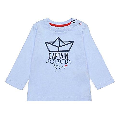 Esprit Kids Baby-Jungen Langarmshirt T-Shirt, Blau (Pastel 412), 74