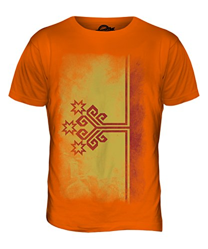 CandyMix Tschuwaschien Verblichen Flagge Herren T Shirt Orange