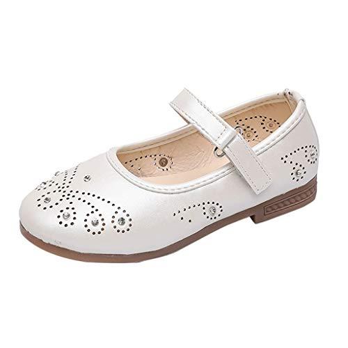 Mädchen Sommer Echtes Leder Sandale Mode Baby Diamant Schmetterlings Heligen Mädchen Höhlen Heraus Beiläufige Ballett Prinzessin Shoes Baby Leder Lauflernschuhe Flache ()