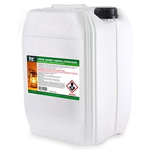 1 x 20 L gereinigtes Petroleum Heizöl - zum Heizen für Campingheizung, Petroleumofen, Petroleum Laterne, Starklichtlampe uvm.