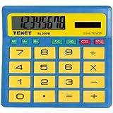 Texet sI200blu-calculatrice-grandes touches pour les enfants et les petits enfants bleu