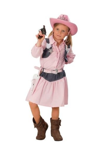 Cowgirlkostüm Kostüm Cowgirl rosa zweiteilig Gr. 104, 116, 128, 140, 152, 164, (Rosa Stiefel Kinder Cowgirl)