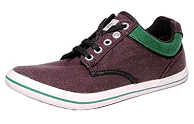 Converse Unisex 111520 Black & Green Canvas Casual Shoes - 8 UK