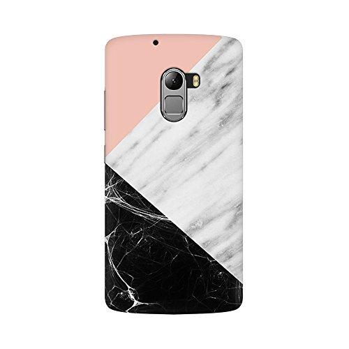 Mobicture Pink Black Marble Fusion Designer Printed Hard Case Cover - [Hard Poly Carbonate] [Slim-fit] [Shock-Proof] Back Cover for Lenovo Vibe K4 Note