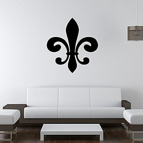 Classic fleur de lis Silhouette Wall Sticker Adesivo Arte disponibile in 5 dimensioni e 25 colori Extra-Small Pelle - Fleur Pelle