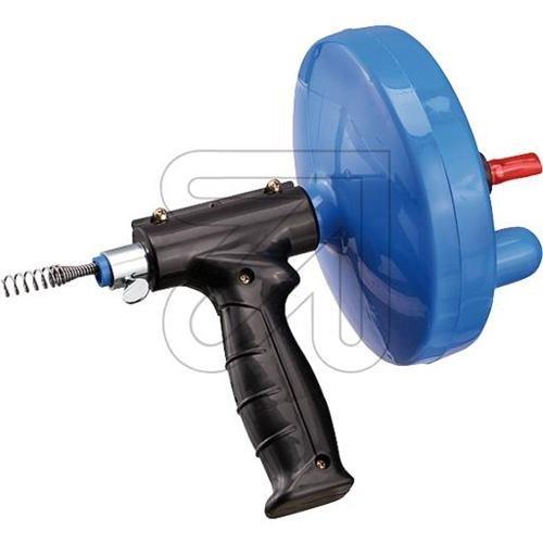 Haas Rohr-Reinigungsspirale mit Maschinenanschluss und Pistolenhandgriff, 4,5 m