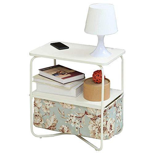 YueQiSong Nordic Massivholz 3-Stöckiger Beistelltisch Moderner Minimalistischer Kleiner Wohnbereich Sofa Ecktisch Mobiler Beistelltisch Kleiner Couchtisch, b -