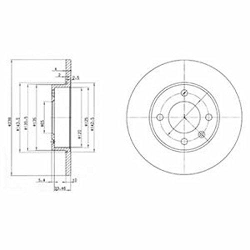 Preisvergleich Produktbild Bremsscheibe - Delphi BG2117