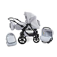 Baby Pram Zeo Mio 3in1 Set - All You Need! carrycot Gondola Buggy Sport Part Pushchair car seat (M4)