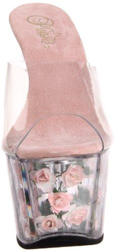 Pleaser, Sandali donna (Clear/B.Pink)