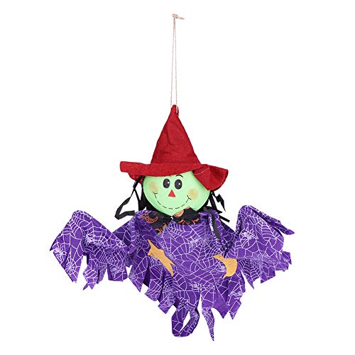 Fdit Halloween-Hängepuppe, Puppe, Dekoration, Requisiten, Ornamente zum Aufhängen, Dekoration für Zuhause, Party, Festival, Pub, Bar, Festival, Feier violett (Gut, Kid Witze Für Halloween)