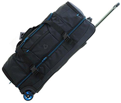 Davidts Reisetasche Trolley Doppeldecker mit Schuhfach 76x37x33cm Schwarz 275 030 Bowatex