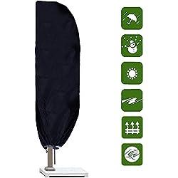 Comius Housse de Parasol, 265CM Housse de Protection de Parasol 420D Oxford Imperméable Résistant à UV Intempéries avec Sac de Rangement